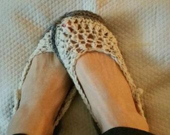 Crochet Slippers Womens Summer Slipper Sandal with rubber sole