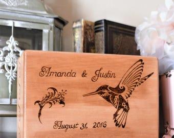 Wood Burned Couple Personalized Box