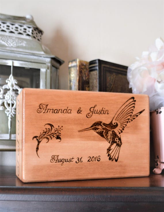 Wood Burned Couple Personalized Box