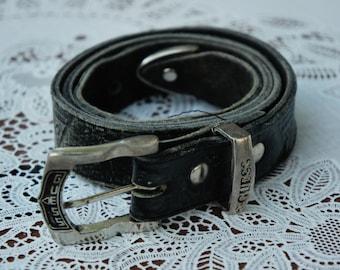 Vintage Guess Leather Belt/Designer Belt/High Fashion/Brandname