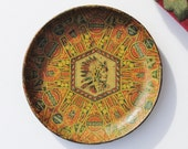 Antique Superfina Cigar Lithographed Tray - Native American Chief, Indian Chief, Superfina, Tobacciana, Trays, Advertising Trays