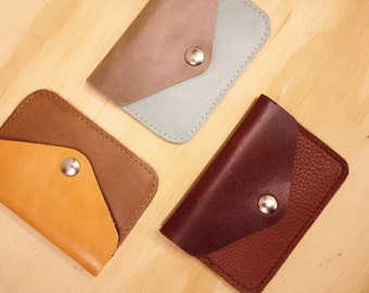 SALE -50% Mini spender, small leather wallet for coins and cards