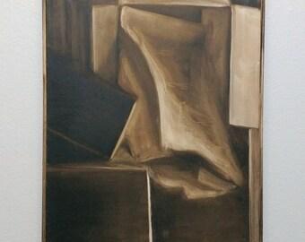 Sepia Still Life - Original Oil Painting