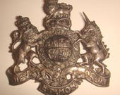 Vintage Stieff Sterling Silver Brooch Pin Coat of Arms of The Monarch of England / Stieff Silver Brooch Lions and Unicorn
