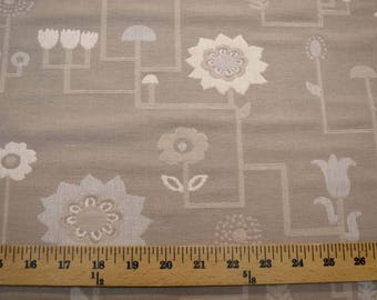Neutral Flowers Fabric