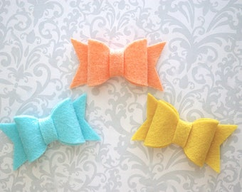 Felt Bow Hair Clip, Felt Bows, Felt Hair Bow, Felt Hair Clip, Hair Bows, Baby Bows, Girls Hair Bow, Toddler Hair Bows, Toddler Bows