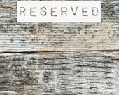 RESERVED FOR JAMIE M