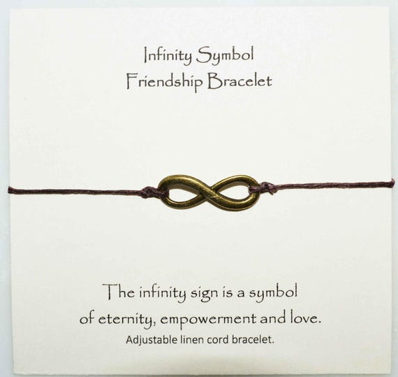 Infinity Symbol Friendship Bracelet Ininity Symbol Charm