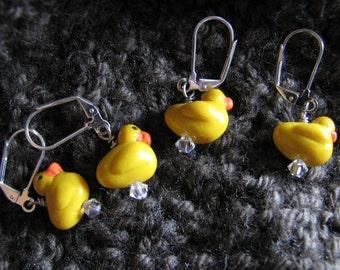 Yellow duck | stitch markers | crochet | knitting | miniature | animals | handmade | supplies