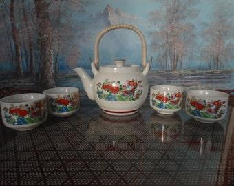 Vintage Japanese four person Teapot set.