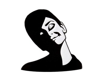 Audrey Hepburn enamel lapel pin