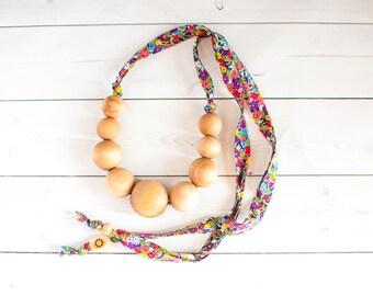 Organic Nursing Necklace- Necklace For Mom- BreastFeeding Necklace- Babywearing Necklace - Wooden Teething Necklace- Breastfeeding Baby Gift