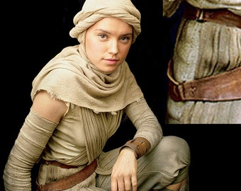 Rey Cosplay Holster - Double Belt - Wrist Guard - Pouch - Leather Perfect!