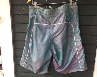 90s Iridescent Surf Shorts M/L 32