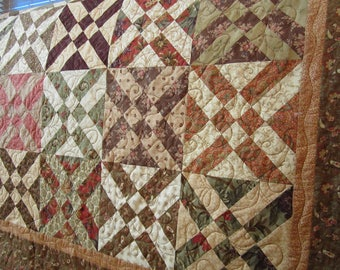 Handmade Quilt, Patchwork Quilt, Traditional Quilt, Lap Quilt, Homemade Quilt, Quilts, Quilted Throw, Arrowhead Block Quilt