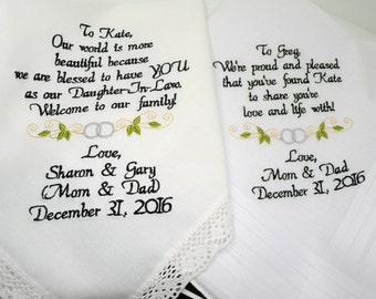 Special wedding gifts for your son and future daughter inlaw or for your daughter and future son Future Mr and Mrs by Canyon Embroidery