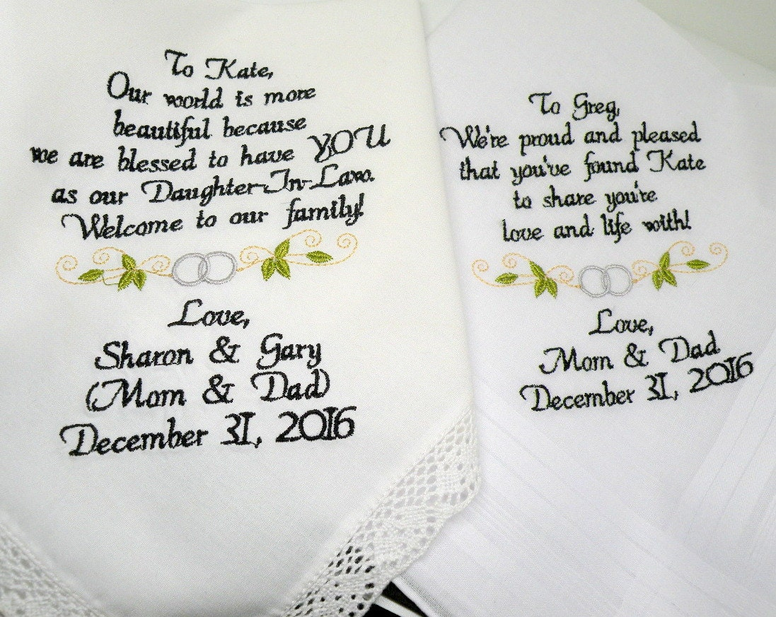 Special wedding gifts for your son and future daughter inlaw