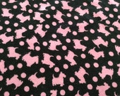 Washable, Waterproof, Reusable Puppy / Potty Pad - 18 x 24 - Black and Pink Scotties