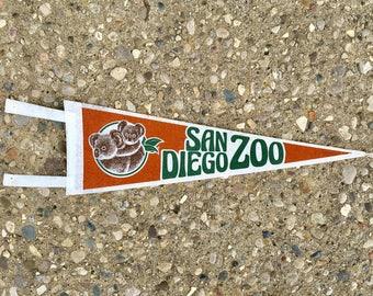 Vintage San Diego Zoo Pennant