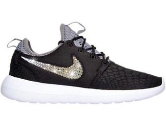 Bling Nike Roshe Two SE Shoes with Swarovski Crystals * Black / White * Bedazzled Authentic Swarovski Crystal Rhinestones