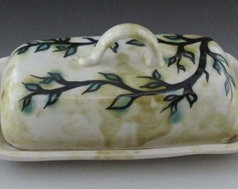Speckled Woods Butter Dish