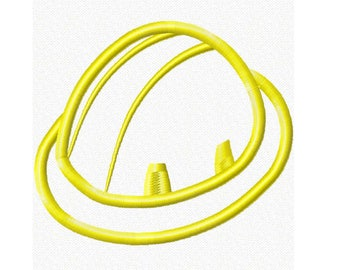 Construction Hard Hat 1 Embroidery Machine Applique Design Instant Download