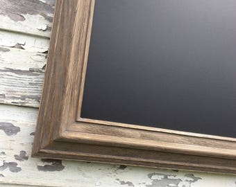 "BARNWOOD FRAMED CHALKBOARD Magnetic Rustic Driftwood 41""x29"" Wood Framed Chalkboard Rustic Home Office Memo Board Farmhouse Kitchen Decor"