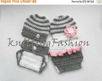 ON SALE 15% SALE Newborn Twin Outfits _NewBorn Baby Girl Twin Outfits _  Baby Twins Hospital Outfits_ Photography Outfit Baby Twins