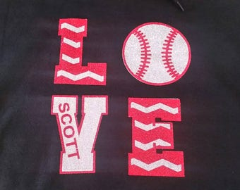 Love Baseball Shirt, Baseball Love Shirt, Woman's Baseball Shirt, Love Shirt, Baseball Shirt, Baseball Mom Shirt, Softball Shirt, Baseball