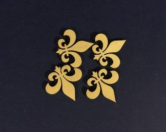 Fleur De Lis  - 4 Wood Blanks