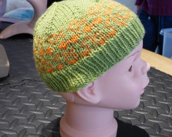 Child's Fair Isle Style Beanie Hat