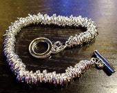 Destash (1) Charm Bracelet Starter - nice silver - for jewelry making, crafts