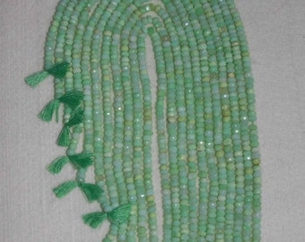 Opal, Green Opal, Green Opal Rondelle, Faceted Rondelle, Natural Stone, Semi Precious, Gemstone Rondelle, Full Strand, 4mm, AdrianasBeads