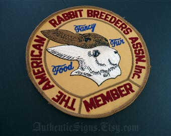 Vintage Rabbit Patch American Rabbit Breeders Assn Inc Member Patch
