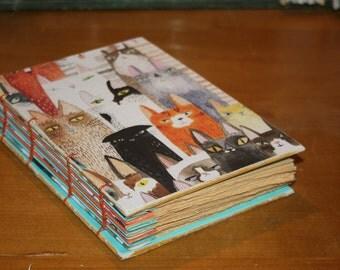 Cat Notebook, Cat Lover Journal, Animal lover gift, Veterinarian Gift, Unique Feline Gift