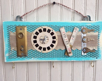 Handmade Salvaged Hardware Love Sign//gifts for her//wall decor