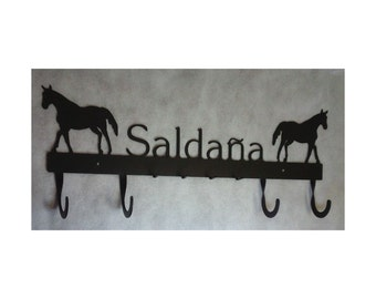 Combination Coat and Key Rack with Name