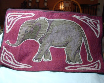 1990s Tapestry Like Made in INDIA Elephant Placemats.