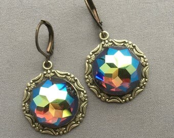 Rhinestone Earrings - Drop Earrings - Vintage Style Jewelry - Sparkly Earrings - Rhinestone Jewelry - Old Hollywood - Romantic Jewelry