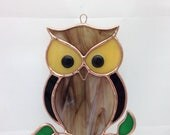Stained Glass Suncatcher Ornament Owl