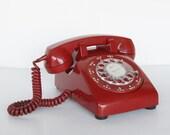Red Dial Telephone for Display or Repair