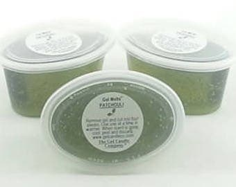 3 Patchouli Scented Gel Melts™ for tart warmers & burners hand poured by The Gel Candle Co.™ Peel, Melt Enjoy The Aroma FREE SHIPPING