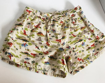 Cotton Dinosaur Print Sleep Shorts / Fun~! / US size Small 2-4