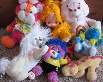 Misc. Vintage 80s Plush Doll Lot