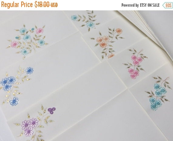 ON SALE Vintage Greeting Cards with Tatting-Flowers-Stunning-Set of 10