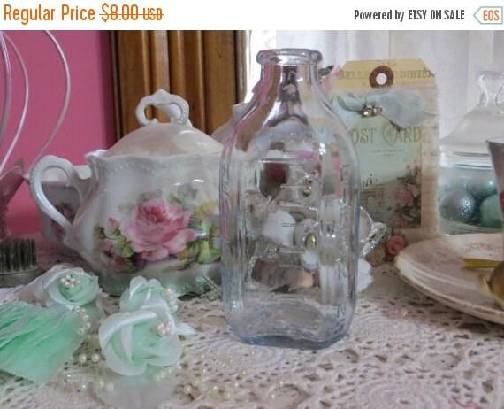 ON SALE Vintage Old Stock-Unused Fire King Glass Baby Bottle-Blue-4 oz.