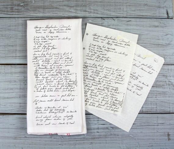 Tea Towels Unique: Recipe Tea Towel // Custom Printed Tea Towel // Your Art On A