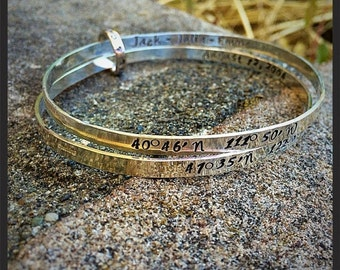 10 dollars off: Double Solid Sterling bangles with connector