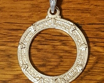 Gold Stargate Pendant Made to Order