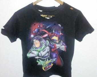 Buzz Lightyear TShirt / Crop Top / Half Shirt / Buzz vs. Zurg / Cartoon / Graphic Shirt / Distressed / Indie / Grunge / Rock N Roll / Foxy